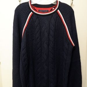 Tommy Hilfigure Textured Crewneck Sweater - Navy